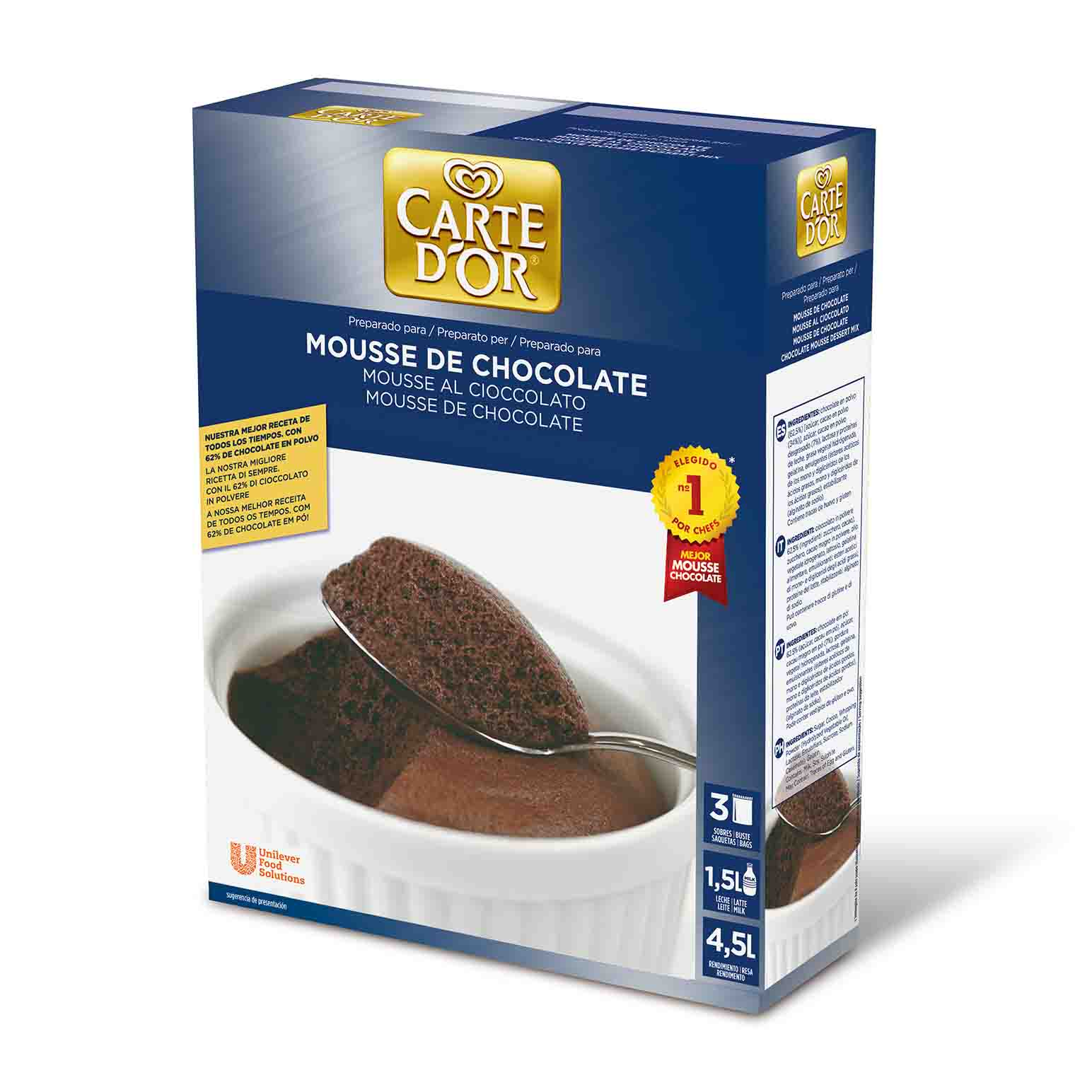 MOUSSE CHOCOLATE GDOR 6X3X240