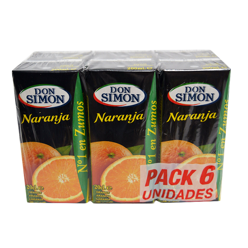 ZUMO MINI NARANJA  D. SIMON 30X200ML