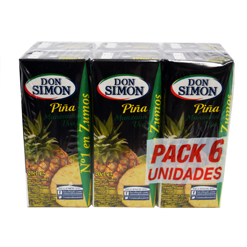 ZUMO MINI PIÑA/UVA D.SIMON 30X200ML