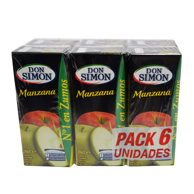 ZUMO MINI MANZANA D.SIMON 30X200ML