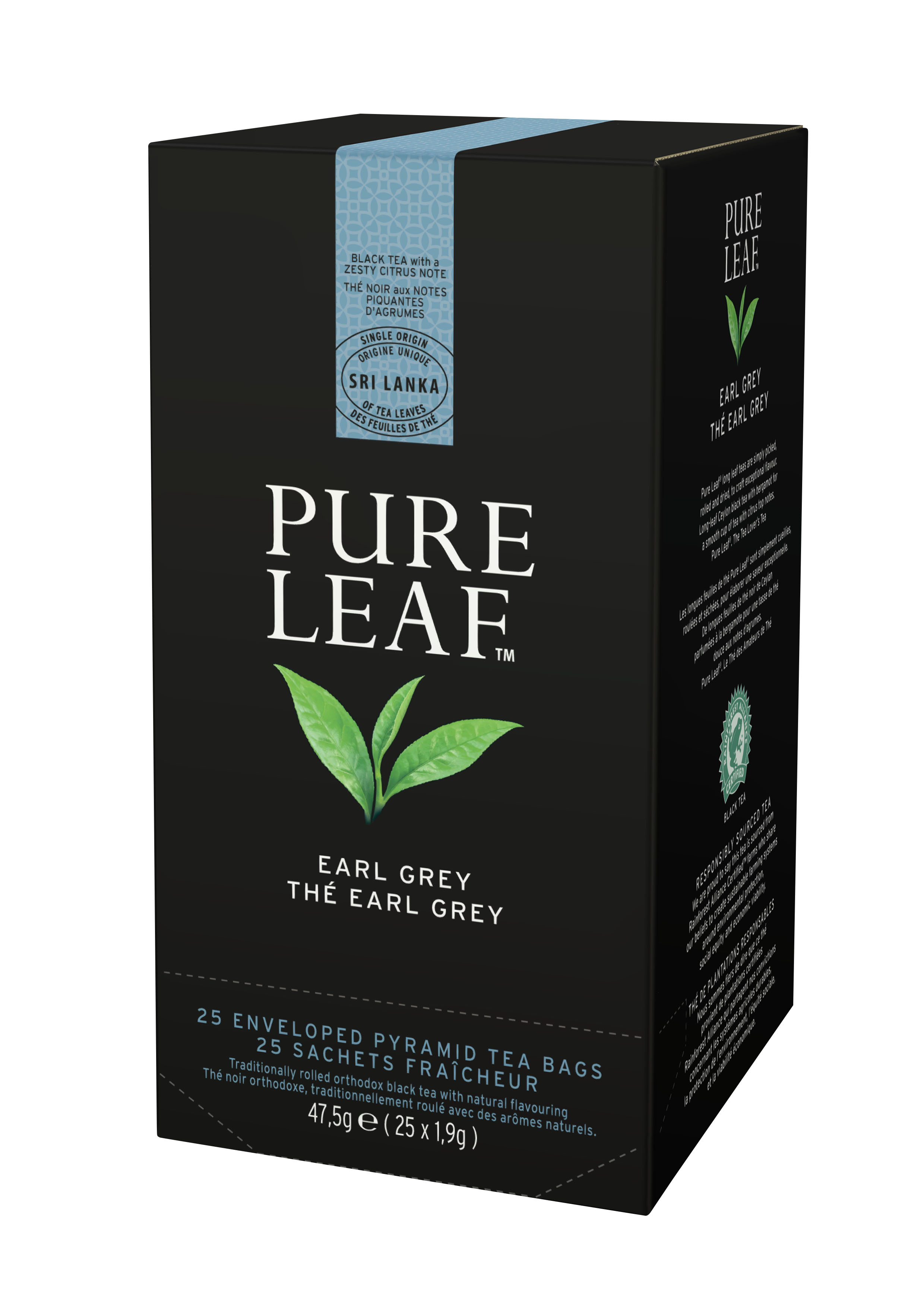 TE PURE LEAF EARL GREY 25S.